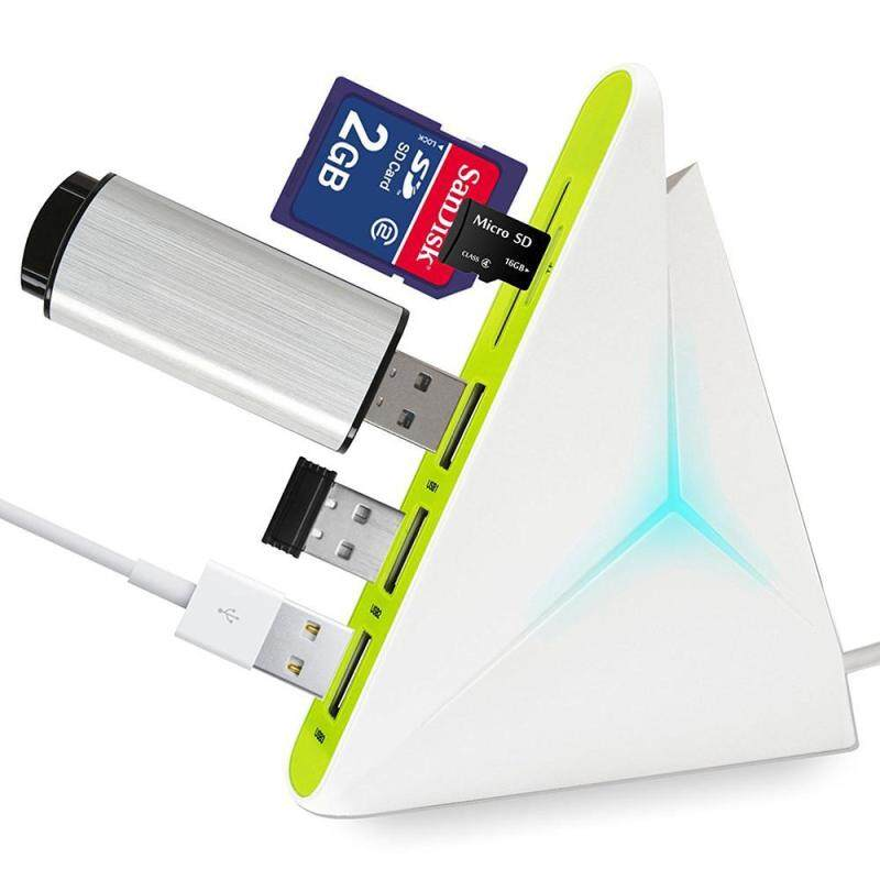 Bảng giá telimei USB 3.0 Hub HIGH SPEED USB Charger 4-Port - Data Hub With Colorful LEDs And Long Cord 35 Inch (White+Green) - intl Phong Vũ