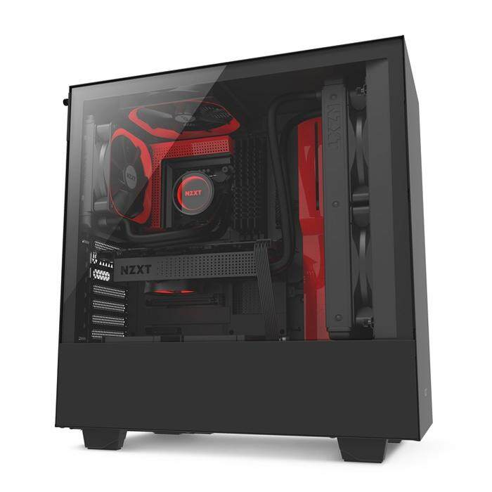 NZXT H500 Mid Tower ATX Case Black & Red Malaysia