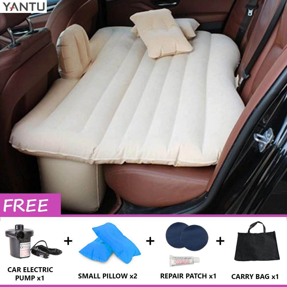 YANTU Inflatable Car Back Seat Air Bed Cushion Mattress
