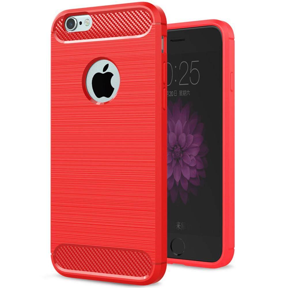 Iphone 6 Case iPhone 6 S Case Lembut Silikon Pelindung Redam Kejut Cover dan Serat Karbon