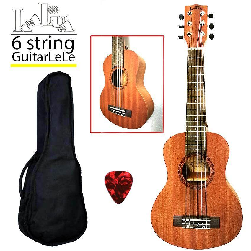 Kalua   String Guitarlele Full Sapele Rosewood Fretboard With Bag And Pick