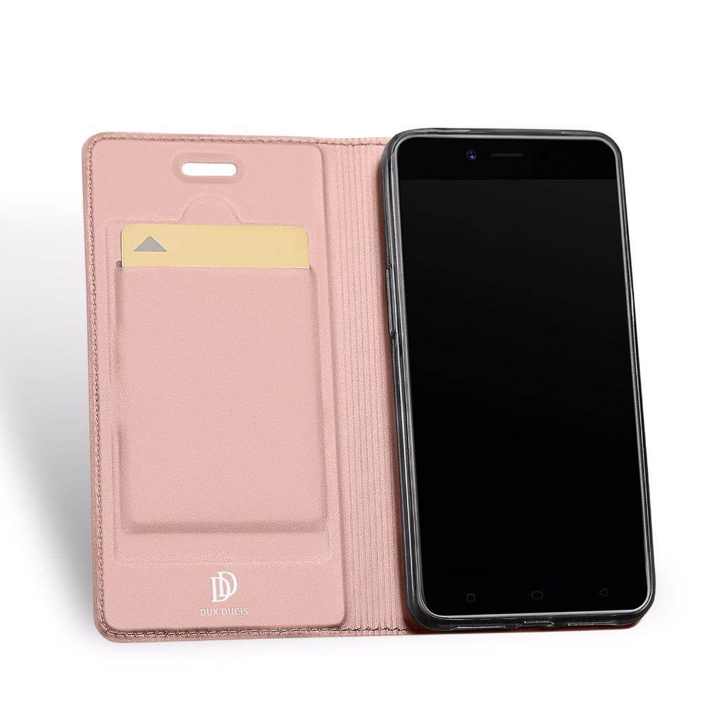 Detail Gambar DUX Flip Case for OPPO A71 Leather TPU Soft Protective Card Holder Wallet Stand Cover Mobile Phone Bag - intl Terbaru