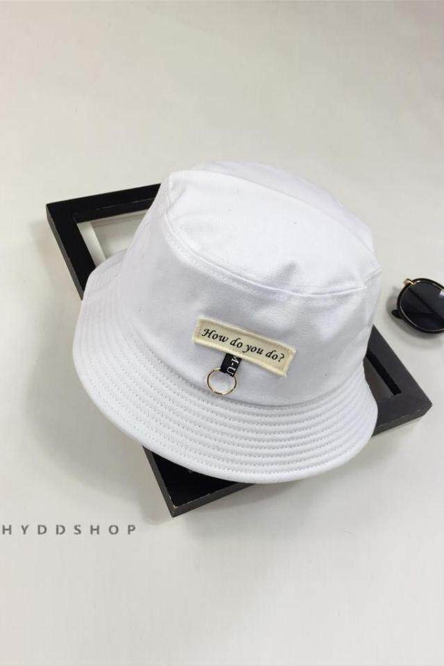 ... LOOESN short sleeved t-shirt (669 (merah. Source. ' Korean version of the letter cloth basin hat spring and summer leisure wild fisherman hat folding