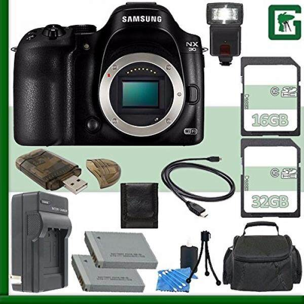 Samsung NX30 Mirrorless Digital Camera Body Only + 16GB + 32GB Greens Camera Bundle 7