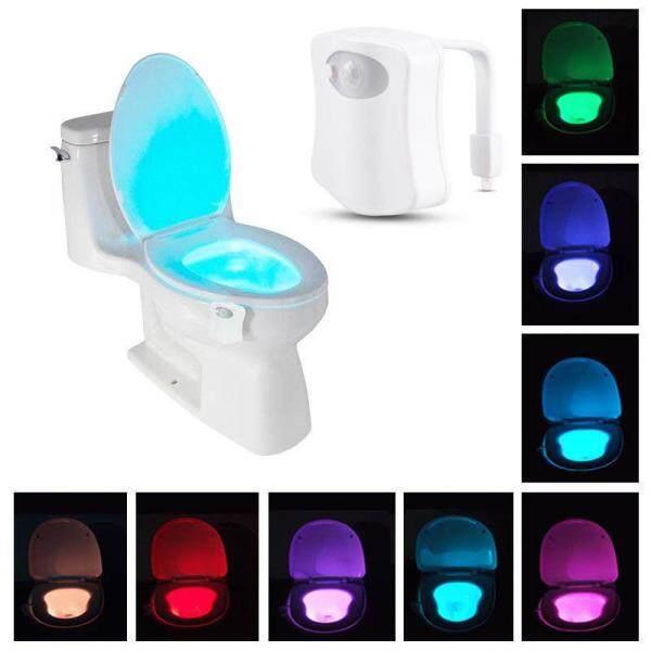 8 màu Tự Động Vệ Sinh ĐÈN LED Cảm Biến Chuyển Động Ban Đêm Đèn Bát Đèn Phòng Tắm Ghế