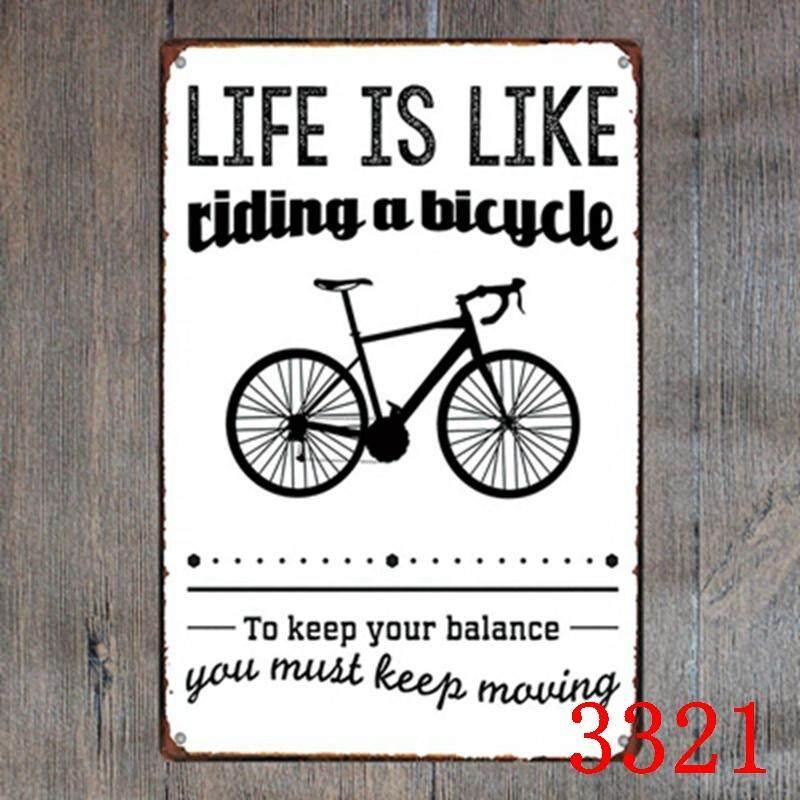 Bicycle Metal Tin Sign Bar Pub Home Wall Decoration Retro Metal Art Poster Crafts - intl