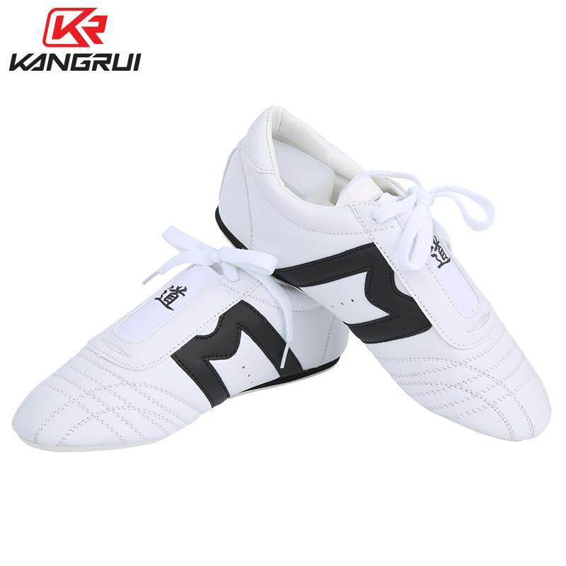 1dfaae98281225 Good quality taekwondo Shoes Cheap white Adult kids WTF PU leather foot  protector Breathable kick boxing