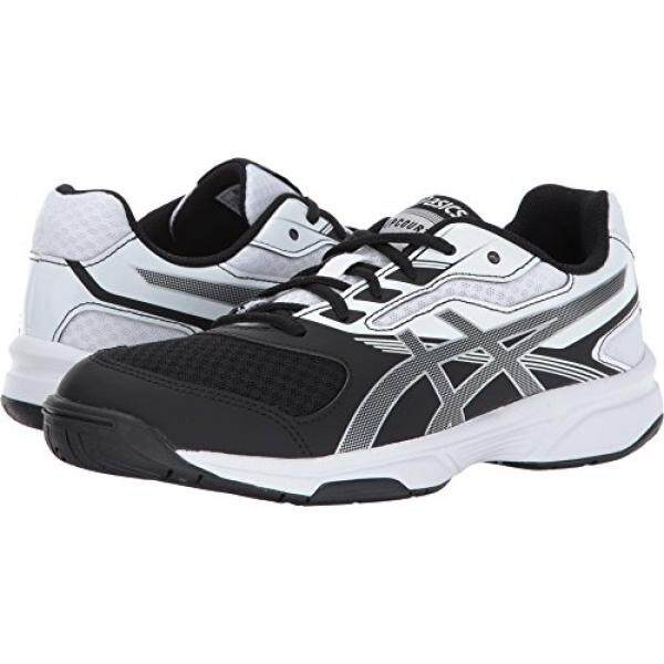 ASICS Womens Upcourt 2 Volleyball-Shoes, Black/Silver/White, edium US / From USA