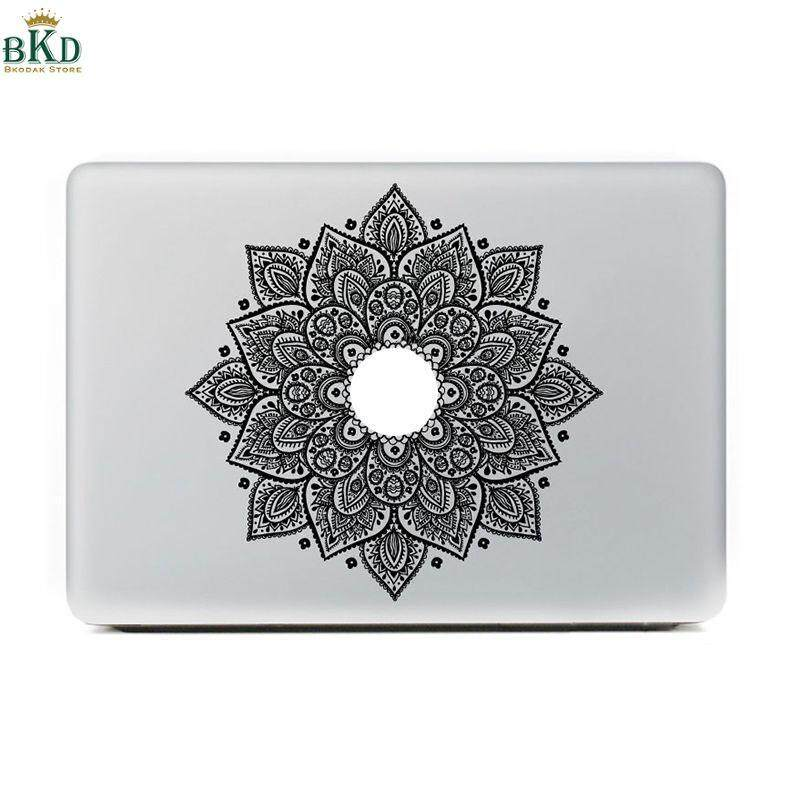 General Black Pvc Decorations Sunflower Decal Sticker Skin For Macbook By Bokeda Store.