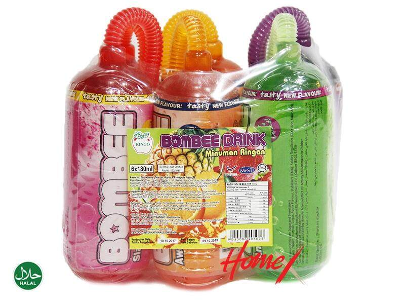 BOMBEE Drink Minuman Ringan (6 bottles) 1100g