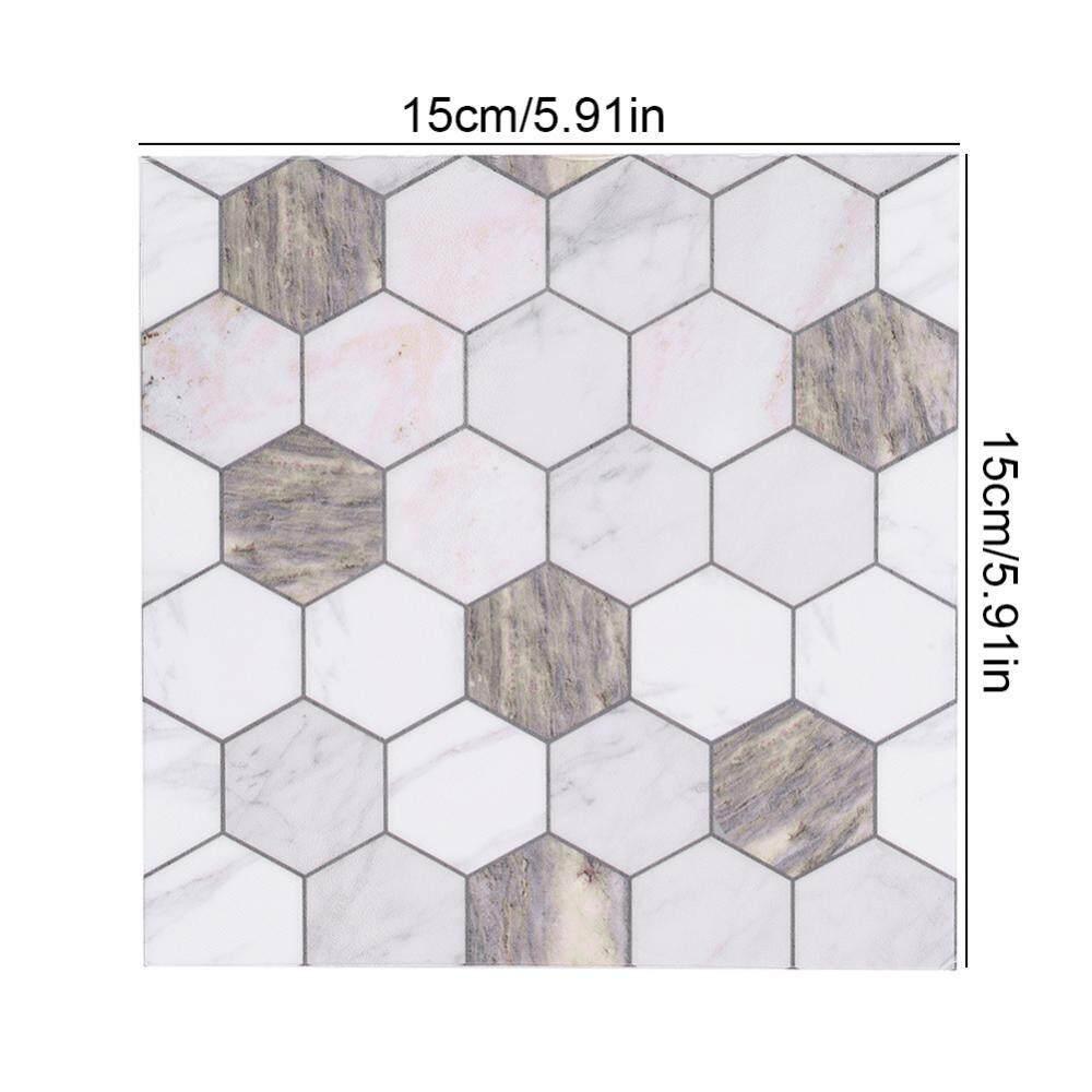 Fitur 10pcs Self Adhesive Pvc Waterproof Wall Tile Sticker Diy Home ...