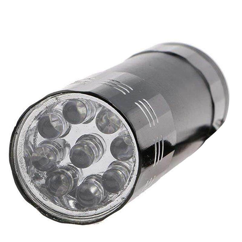 ... 3 Baru 9LED Aluminium Mini Ultra Violet UV Pena Lampu Senter - 4 ...