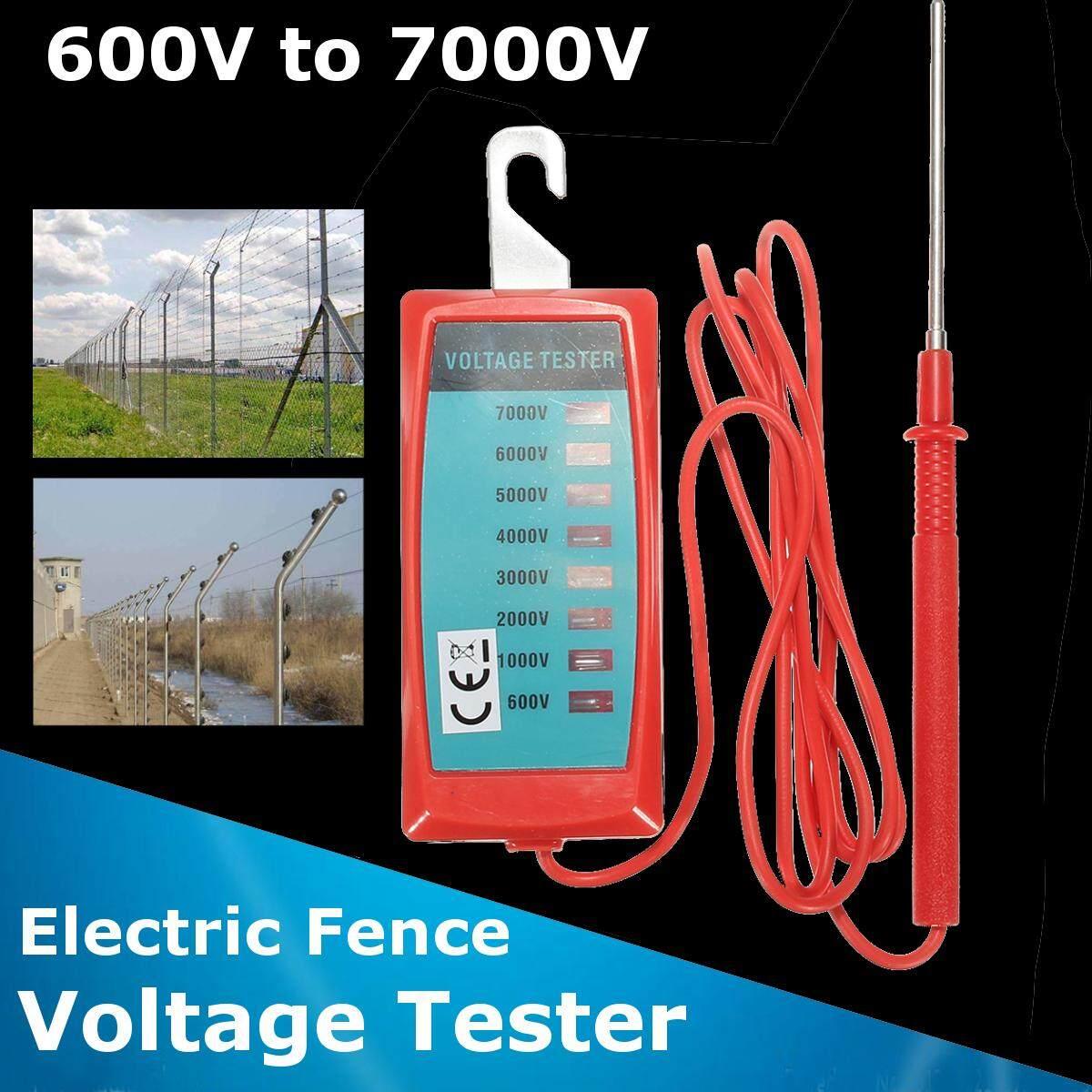 600V - 7000V Handheld Electric Fence Voltage Measure Tester Garden Tool 40x4.5cm