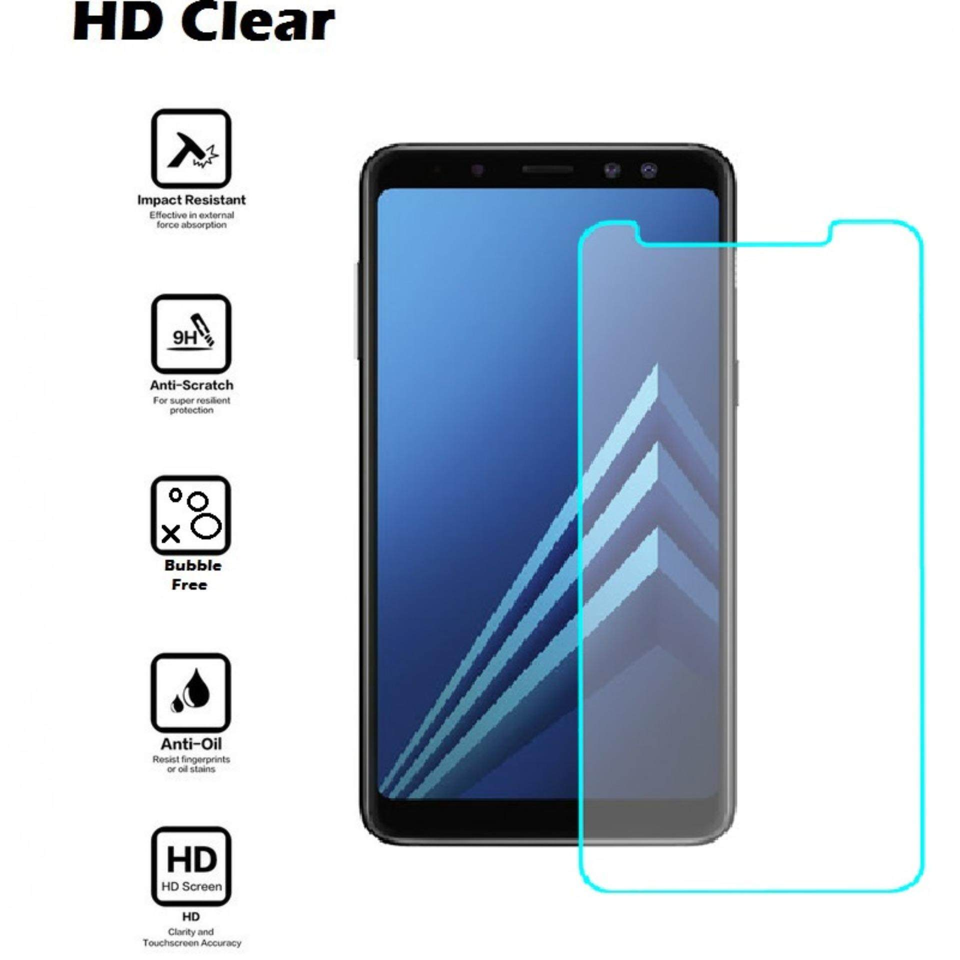 Samsung Galaxy A8 2018 Tempered Glass Screen Protector HD Clear