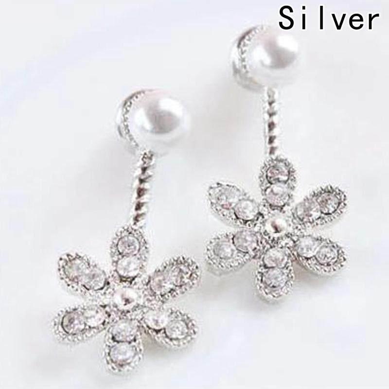 d6b1fbad965df Fancyqube New Fashion Big White Flower Earrings For Women 2018 Gold Silver  Jewelry Bijoux Elegant