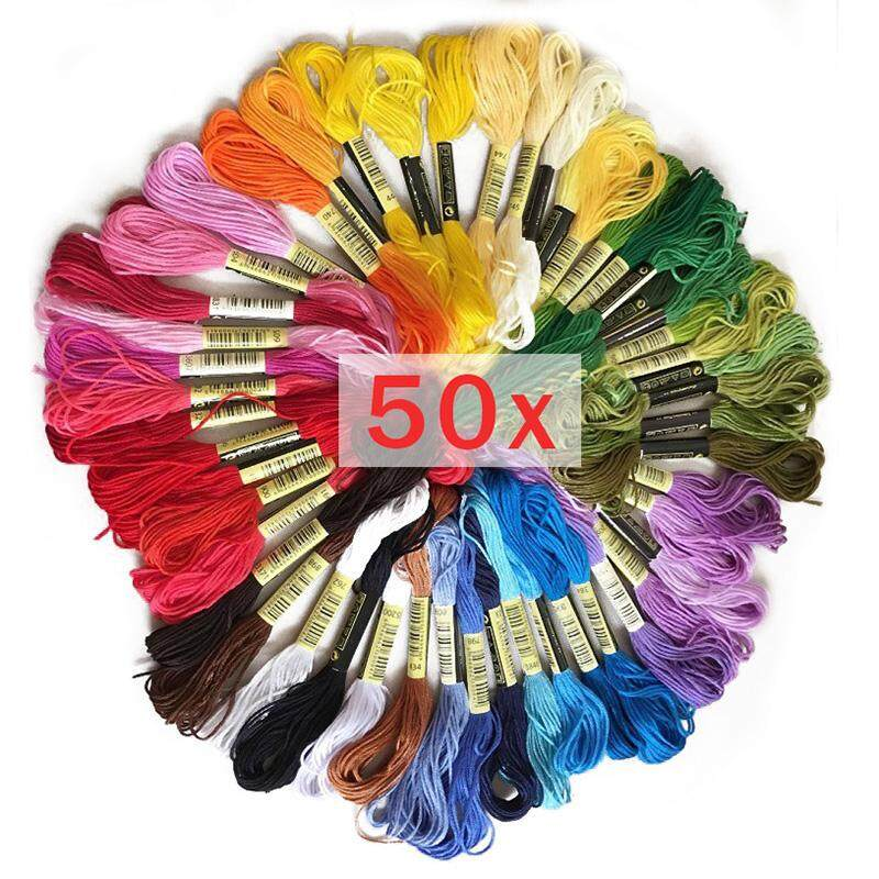 50pcs Anchor Similar Dmc Embroidery Floss Cross Stitch Cotton Embroidery Thread Floss Sewing Skeins Craft By Rytain.