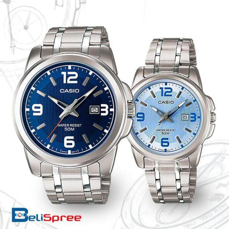 Casio Casio MTP-1314D-7AV /LTP-1314D-5AV Couple Couple Watches Stainless Steel Band Malaysia