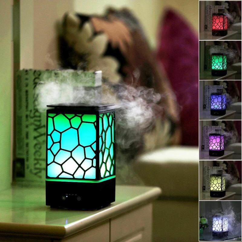 huohu Aroma Diffuser Humidifier, Chinese Water Cube 200ml Aromatherapy Aroma Diffuser, Cool Mist Humidifiers With Auto-Shut-Off 7 Color LED Light For Home, Yoga, Office, Spa, Bedroom, Baby Room - intl Singapore