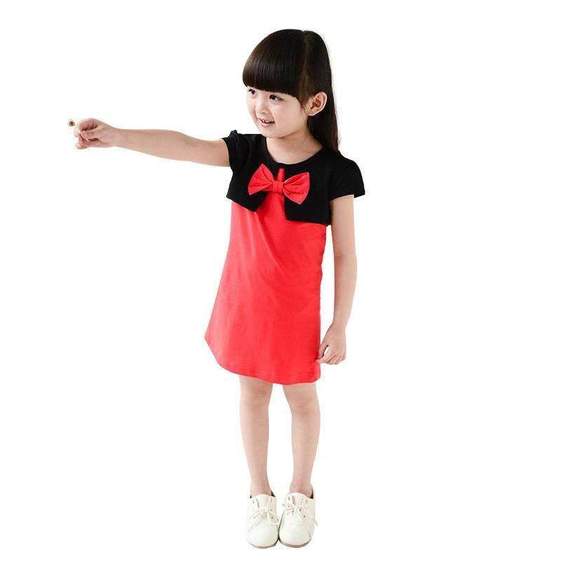 Gaya Korea Terusan Maxi Anak Perempuan Fashion Anak Gadis 100% Baju  Katun-Intl f349aae91f