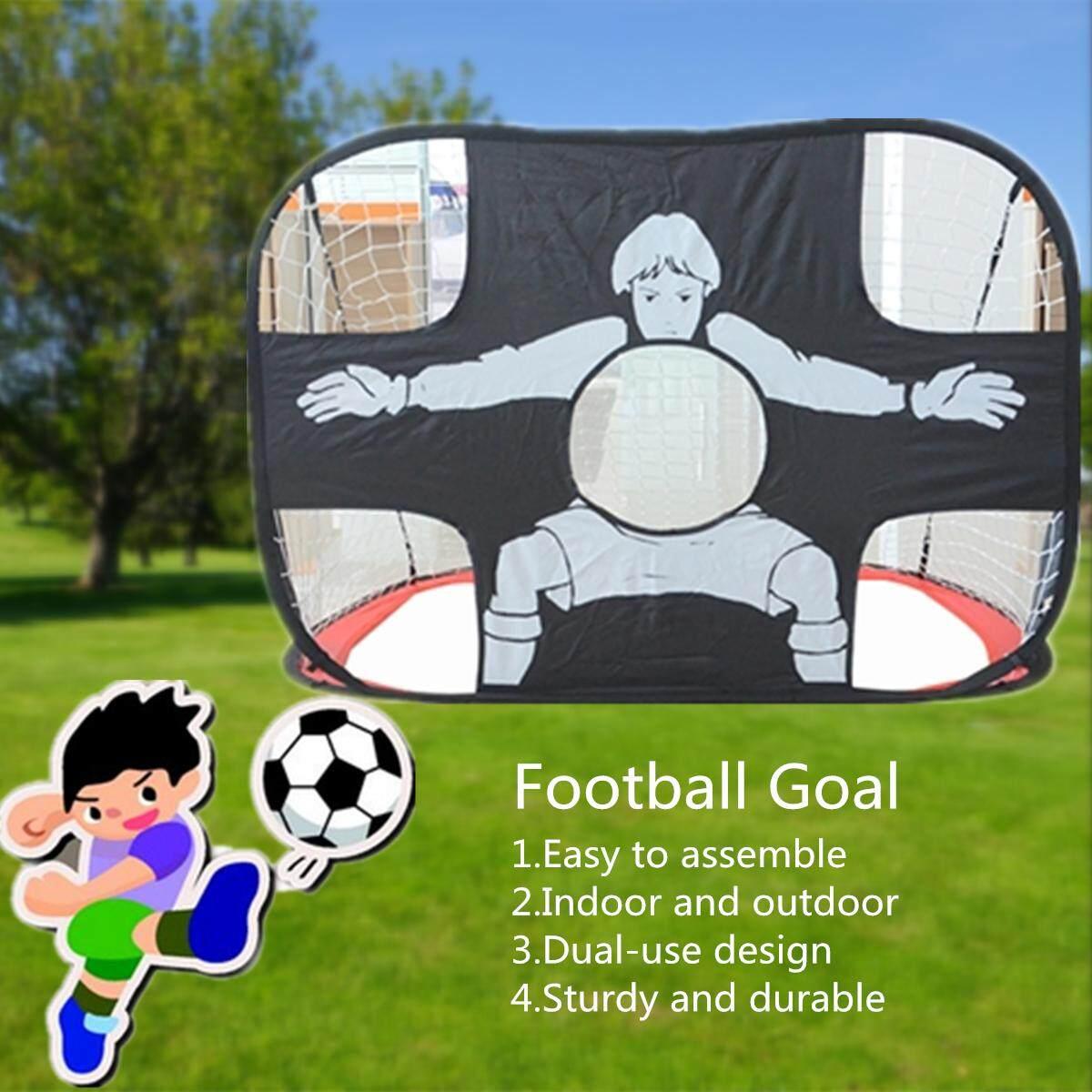 64d36b198 Portable Kid Foldable Football Goal Shot Target 2in1 Dual-Use Net Door Gate  By Audew