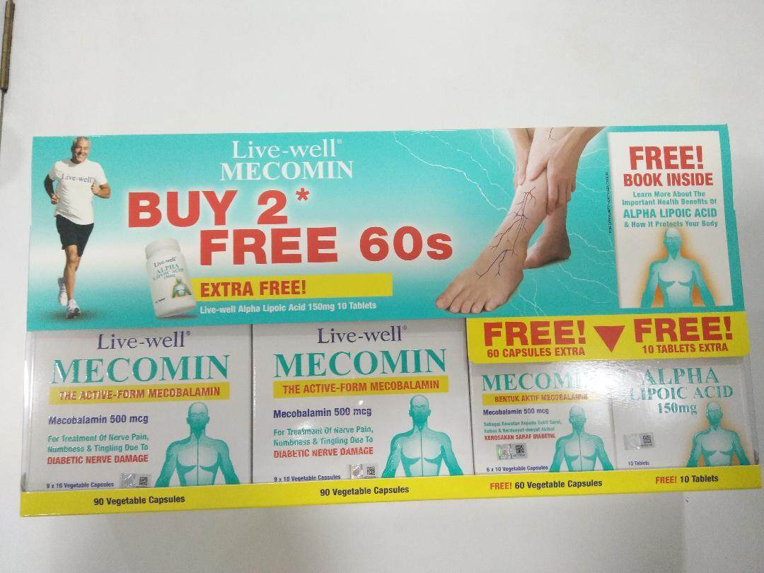 Live-Well New Packing Live-Well Mecomin 500Mcg 90+90+60S Free Alpha Lipoic Acid 10'S