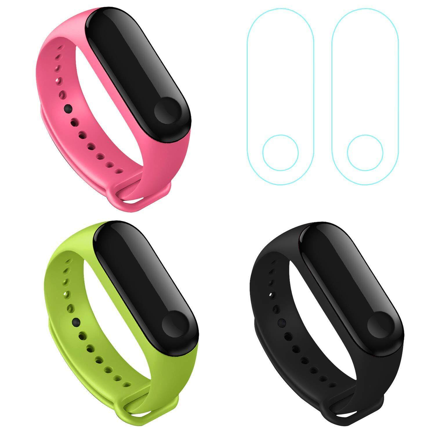 3 Pack Xiaomi Mi Band 3 Bracelet, Soft TPU Silicone Replacement Wristband Accessaries Straps Bracelets