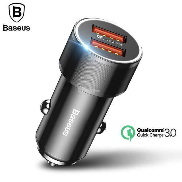 Baseus 36W PD Quick Charge QC 3.0 DUAL USB Car Phone Charger