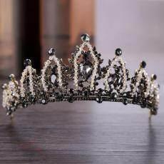 Baroque Mahkota Pernikahan Permata Tiara Perak Kristal Mahkota Tiara untuk Pengantin Ikat Kepala Pernikahan Aksesoris Rambut