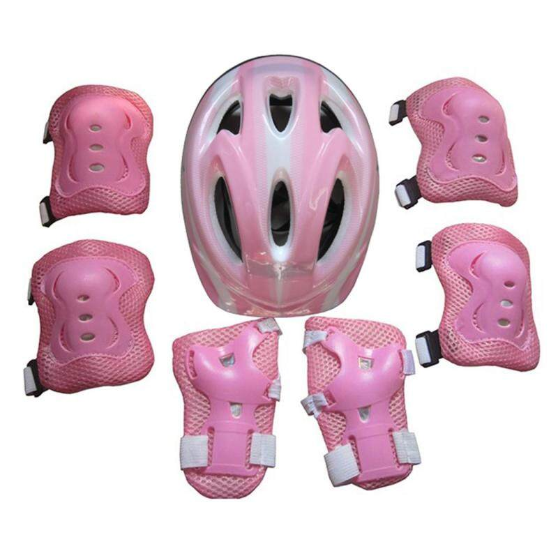 Mua 360WISH 7Pcs Ice Skates Protective Gear Helmet Set for 5-11 Year-old Children - Pink