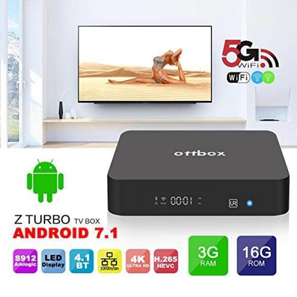 2018 Android Kotak TV Amlogic S912 Ottbox Z PLUS CPU 3 GB RAM 16 GB ROM Quad Core 64 Bit Prosesor 3D 4 K WIFI 2.4 GHz/5 GHz Nirkabel TV Pintar Box-Intl
