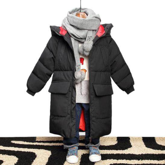099ba2464a25 Jacket for Boys Hooded Winter Jackets Graffiti Camouflage Parkas For  Teenagers Boys Thick Long Coat Kids Clothes