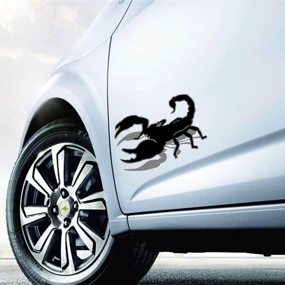 Halloween Mobil Dinding Rumah 3D Stiker Dekorasi Lukisan Dinding Stiker Yang Dapat Dilepas Teror Scorpion Fanestiy