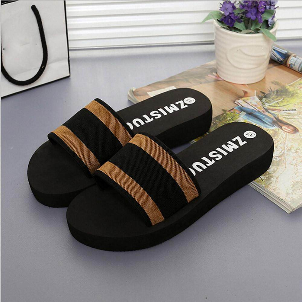 82a3d638385f3a chinastorenie Summer Women Shoes Platform Bath Slippers Wedge Beach Flip  Flops Slippers Shoes
