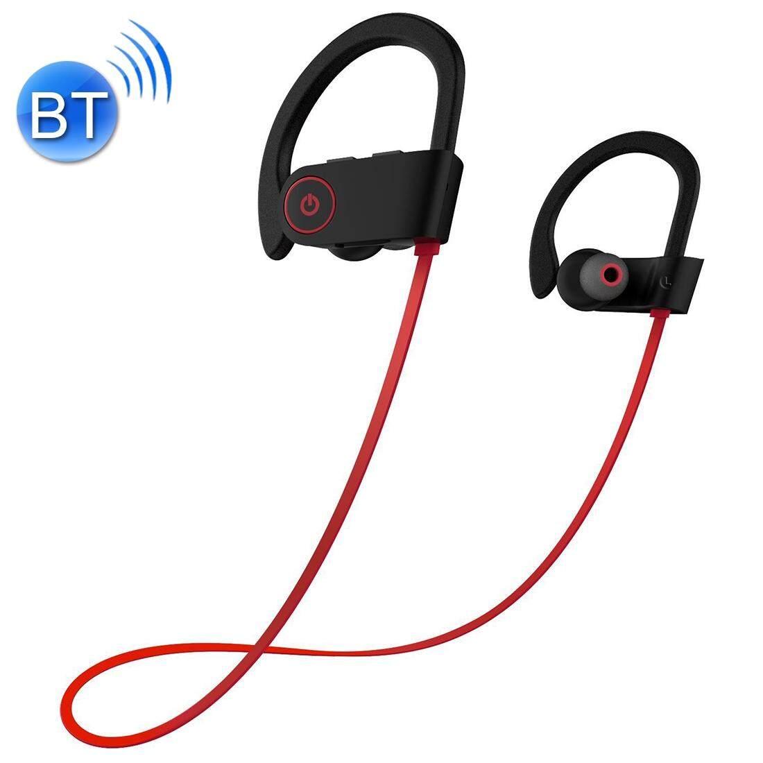 U8 กีฬาบลูทูธ 4.1 + EDR หูฟังสเตอริโอสวมหูชุดหูฟังสำหรับ iPhone, Samsung, Huawei, Xiaomi, HTC และโทรศัพท์สมาร์ทอื่นๆ (สีแดง)