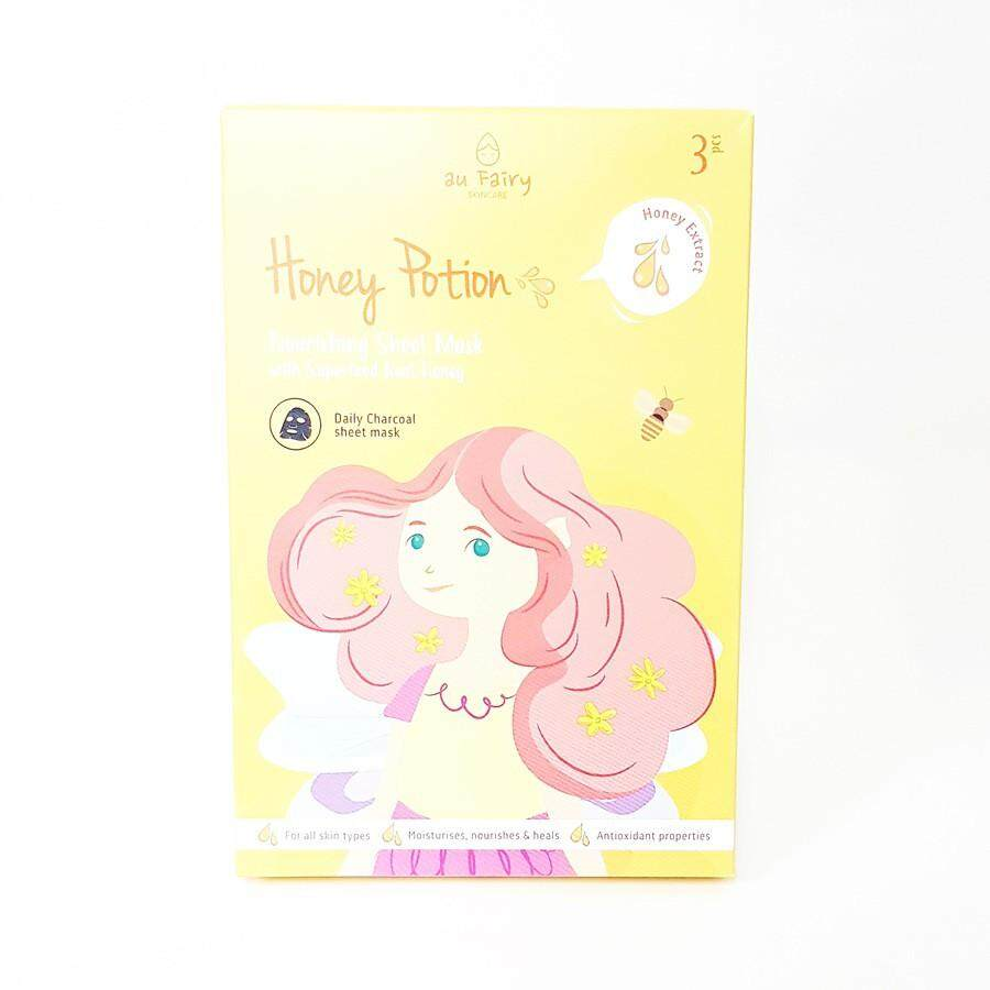 AU FAIRY HONEY POTION DAILY CHARCOAL SHEET MASK 3'S(HONEY EXTRACT)