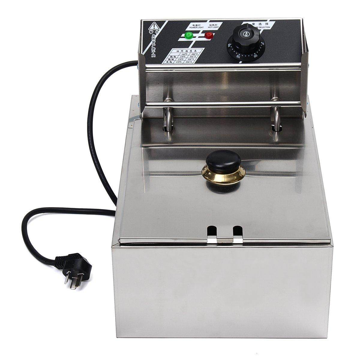 6l 2.5kw Electric Deep Fryer Commercial Home Kitchen Frying Chip Cooker Basket By Moonbeam.