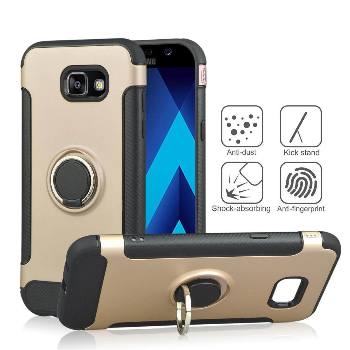 Case for Samsung Galaxy A7 (2017) A720 Carbon Fiber Slim Fit Shockproof Phone Back