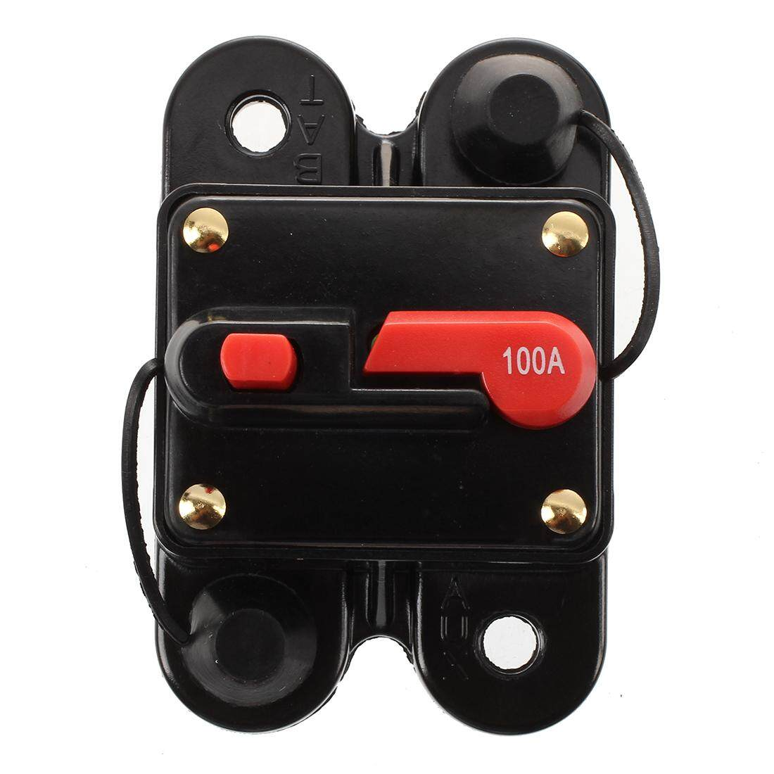 Features 100a Universal Car Auto Audio Power Fuse Amplifier Holder Box 12 24v Dc Breaker Kfz Assurance
