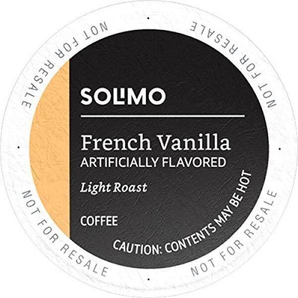 Amazon Merek-100 Ct. solimo Penyaring Kopi Perancis Vanili Rasa, Kompatibel dengan 2.0 K-Cangkir Bir-Internasional