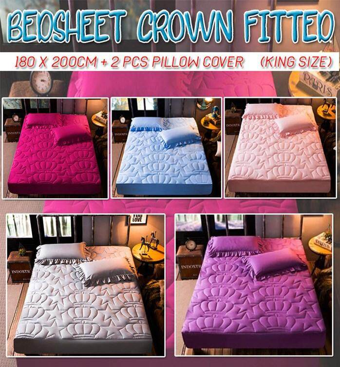 ROMANTIC BED SHEET COVER (King) + Free 2pcs Pillow Cover