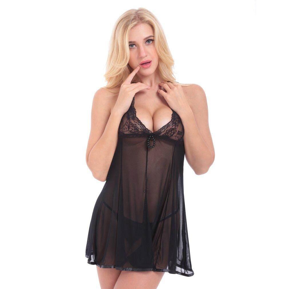 Buy Sell Cheapest Oh Erotic Dress Best Quality Product Deals Mini Sexy Lingerie Babydoll Gaun Malam Wanita Lace Pajamas Female Lady Deep V Women Underwear Set