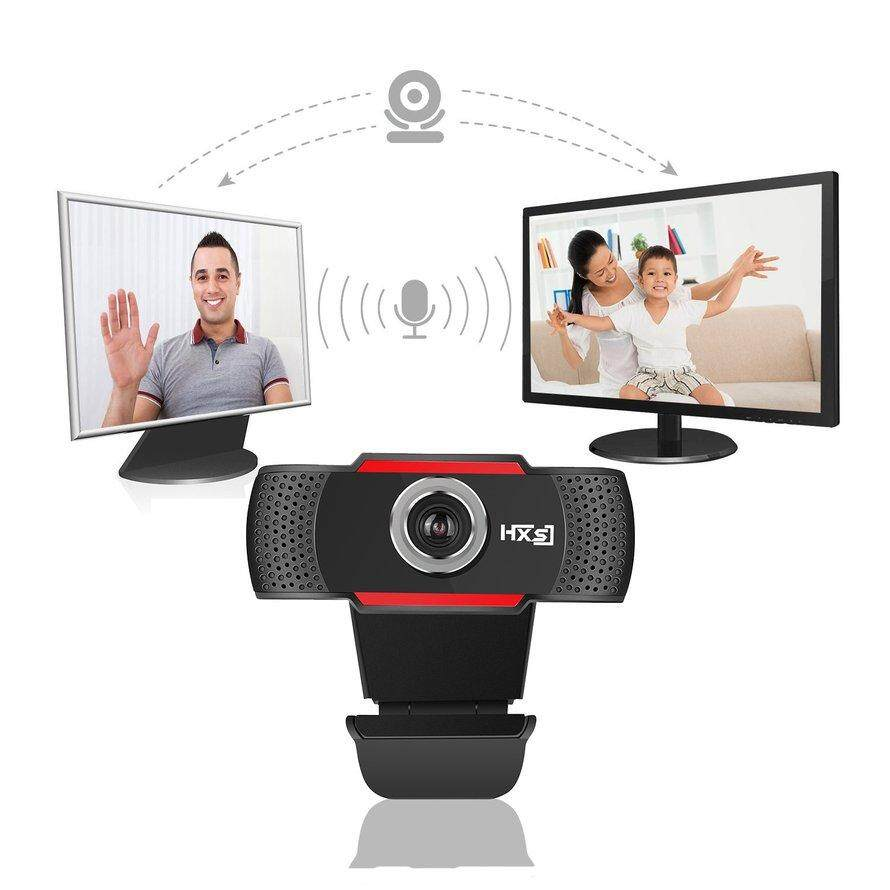 OSMAN USB HD Webcam Rotatable Video Calling Recording with Noise-canceling Mic