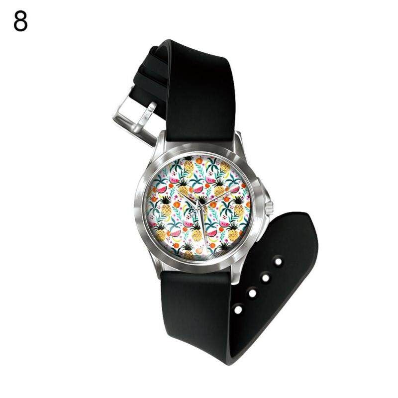Phoenix B2C Fashion Fruit Pineapple Band Number Free Quartz Wrist Watch Decor Birthday Gift (8#) Malaysia