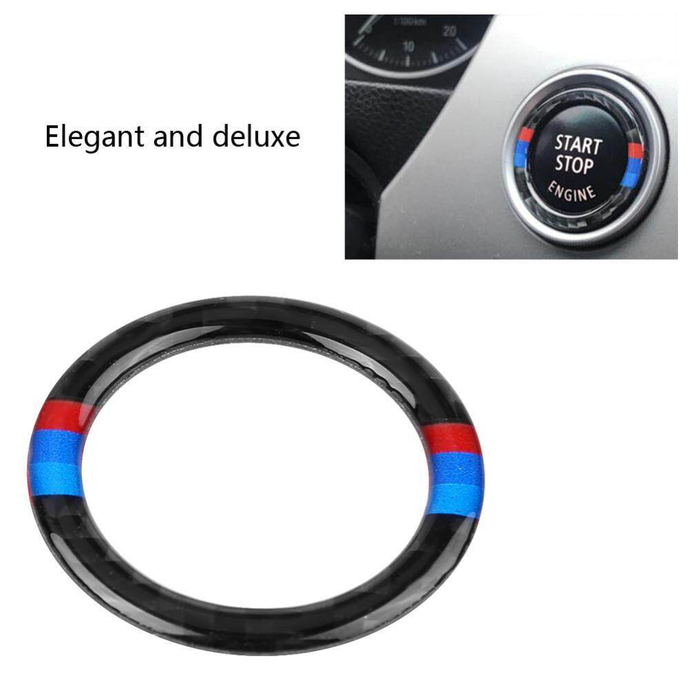 Carbon Fiber Car Engine Start Button Ring Decorative Frame Cover For Bmw E90/92/93 - Intl By Duoqiao.