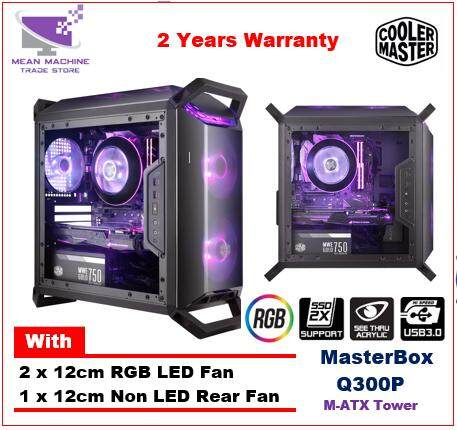 Cooler Master Masterbox Q300P M-ATX Side Acrylic RGB Gaming Chassis Malaysia