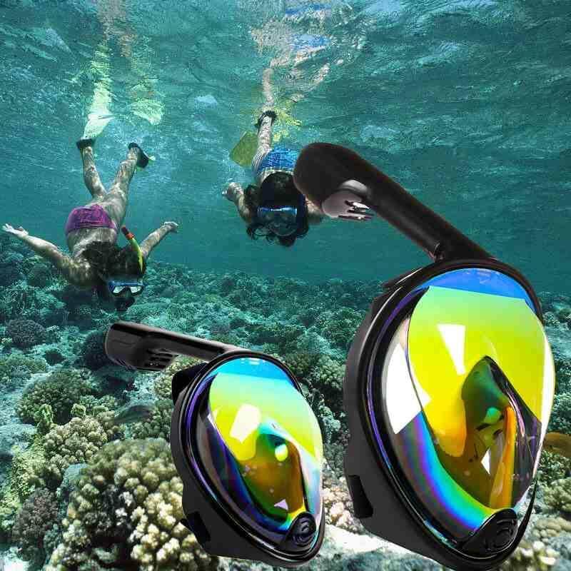 Fdikou Underwater Scuba Anti Fog Full Face Diving Mask Snorkeling Set Respiratory masks Safe and waterproof
