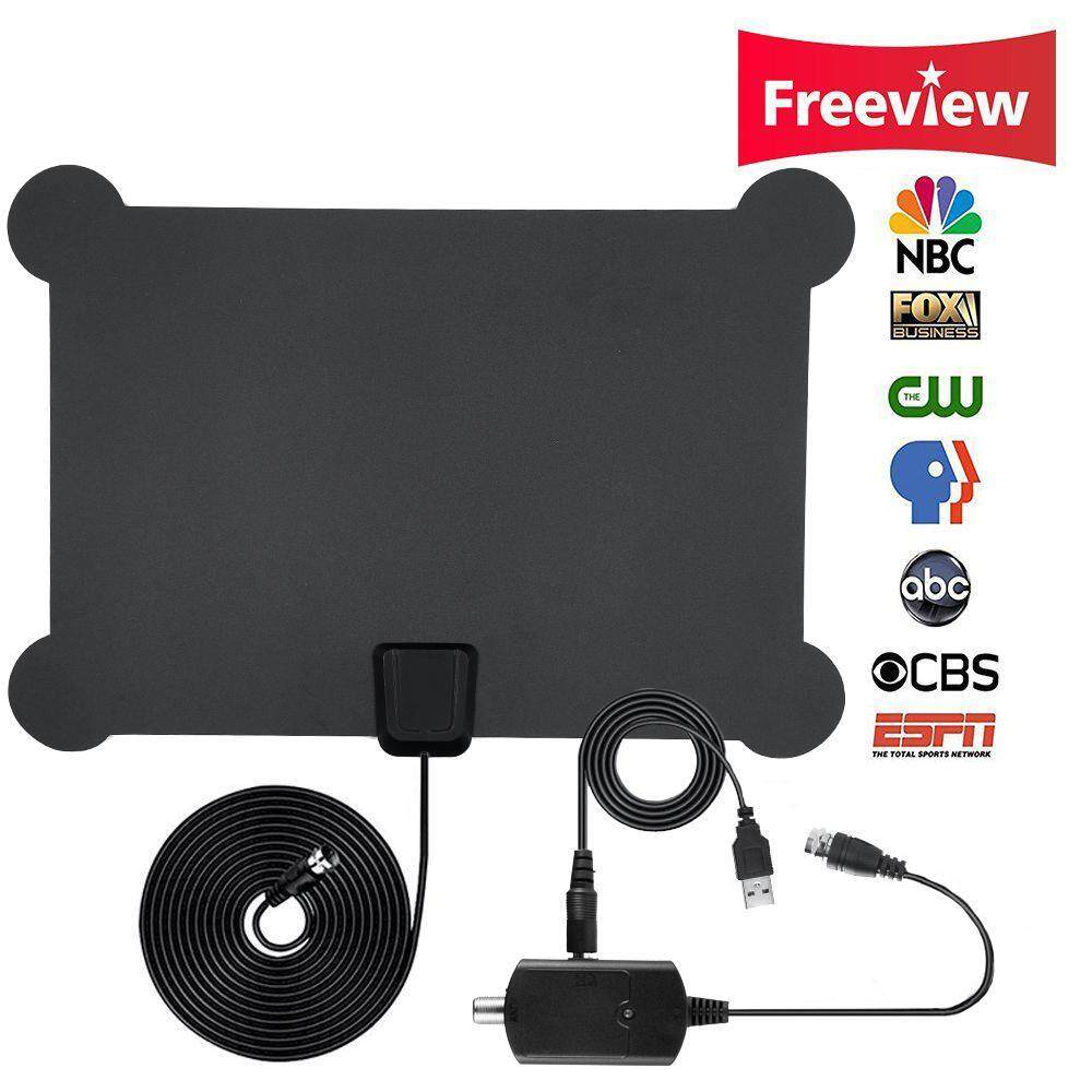 quzhuo HDTV Antenna, Indoor Amplified TV Antenna 50 Mile Range With Creative Adjustable Amplifier Detachable