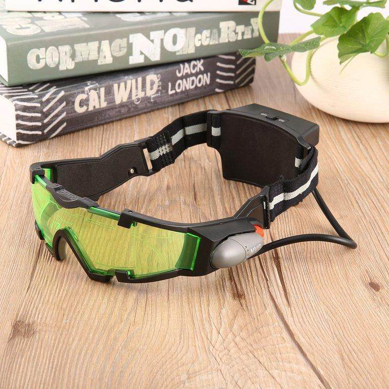 IBERL Military Night Vision Goggles Glasses LED Green Lens Security Eyeshield Goggles Glasses Adjustable Elastic Band