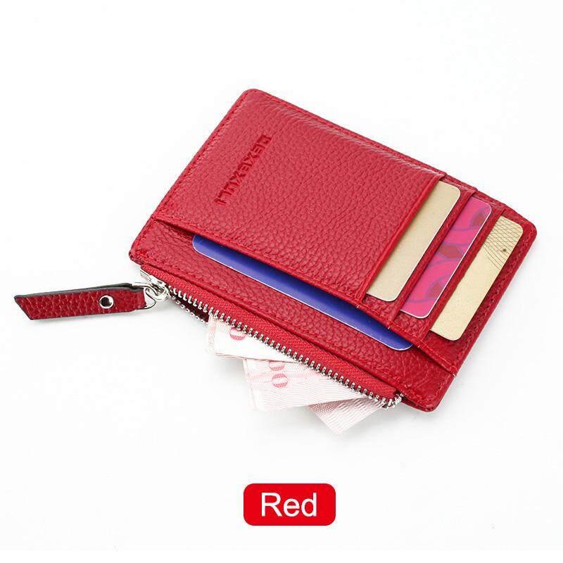 DE Women Men Wallets Zipper PU Small Mini Soft Thin For Money Card Coin
