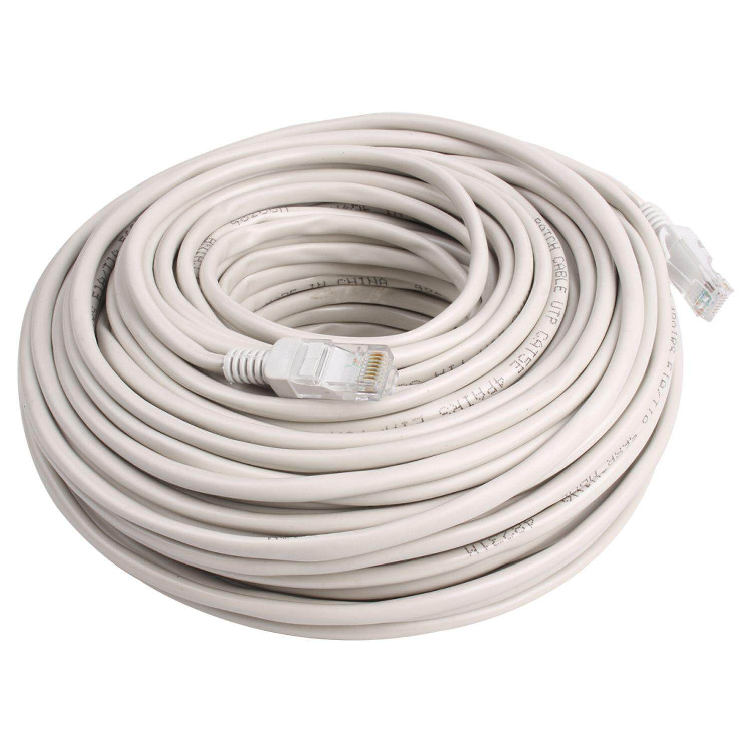 Buy Sell Cheapest 40m Ethernet Cable Best Quality Product Deals Straight Through Network Wiring Rj45 Cat5 Lan Patch Lead Gray White